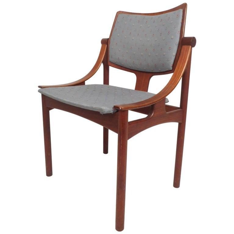 Unique Mid Century Modern Danish Teak Desk Chair For