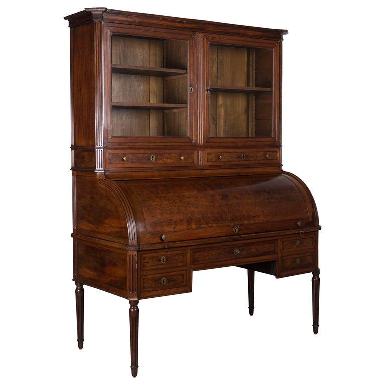 18th Century Louis XVI Bureau à Cylindre or Roll Top Desk