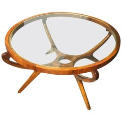 Giuseppe Scapinelli Round Coffee Table