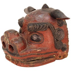 Japanese Edo Period Lion Mask