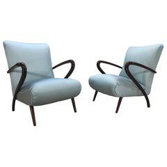 Paolo Buffa Sculptural Open Armchairs