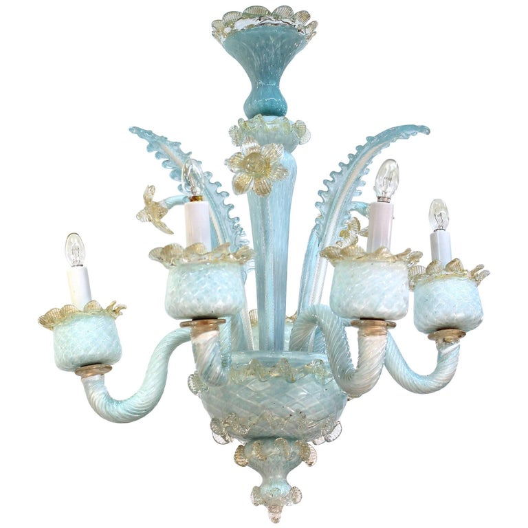 Mid century blue murano crystal chandelier for sale at 1stdibs mid century blue murano crystal chandelier for sale aloadofball Gallery