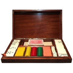 Early 20th Century 800 Silver Gentleman's Game Set