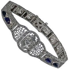 Art Deco Platinum and Gold Bracelet, circa 1930