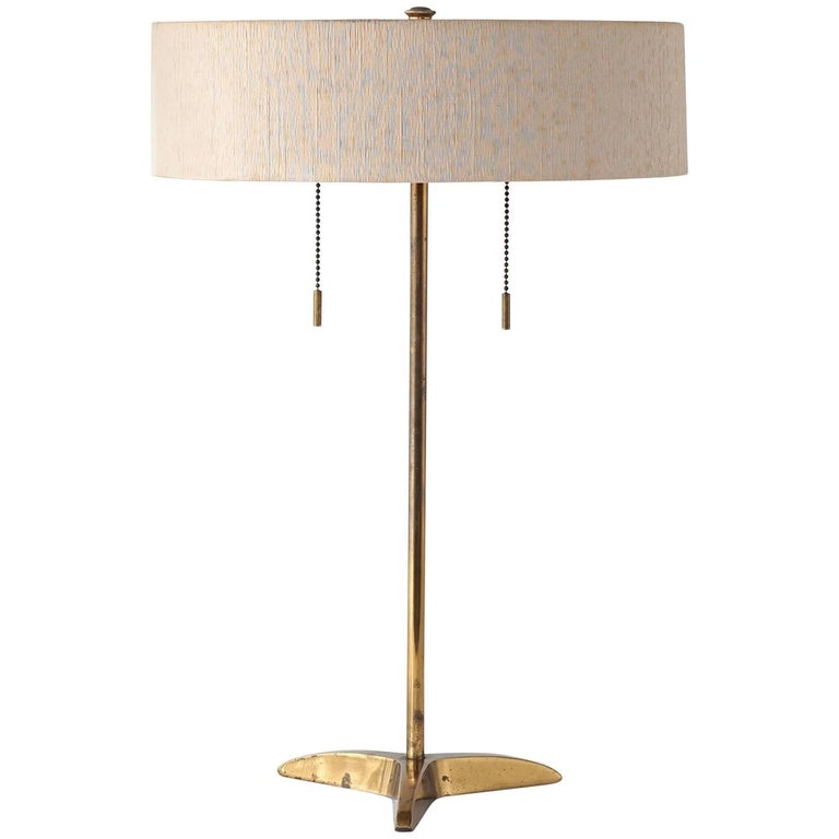 Midcentury Brass Lamp by Gerald Thurston