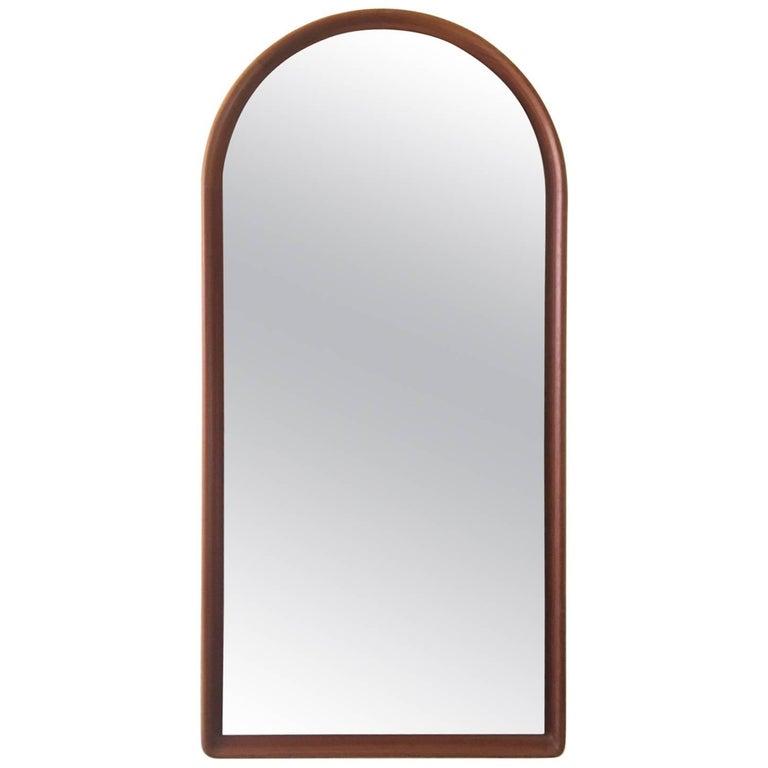 Danish Arch Top Teak  Mirror by Lysgaard Mobler