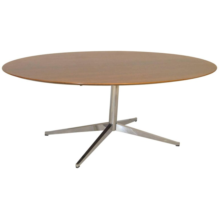 Rosewood Oval Dining Table or Conference Table by Florence Knoll