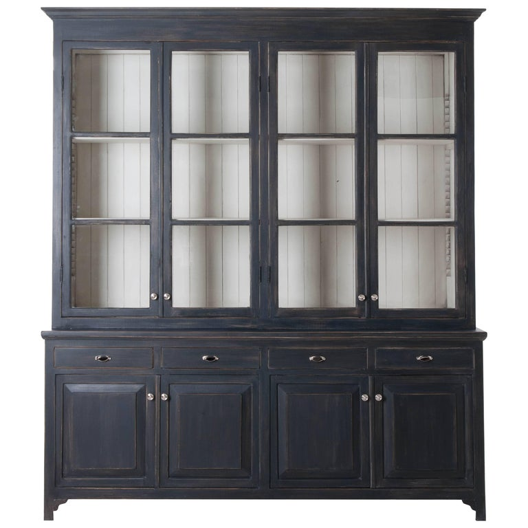 french painted eight door biblioth que made at fireside. Black Bedroom Furniture Sets. Home Design Ideas