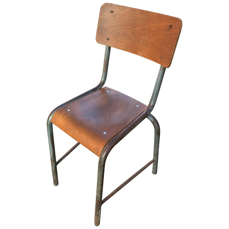 1950s French Modernist  Industrial Side Chair 1