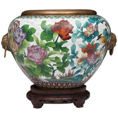 Decorative Chinese Cloisonné Jardineire