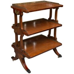 Mahogany Three-Tier Regency Style Dumb Waiter