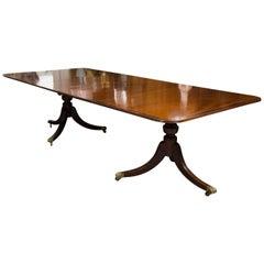 Fine English Mahogany Pedestal Dining Table