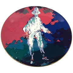 "Collectors Edition Decorative Plate ""Pierrot"" by Leroy Neiman for Royal Daulton"