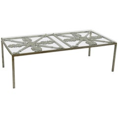 Iron Cocktail Table Made of Architectural Elements