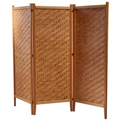 Pine Folding Screen, Sweden, 1950s