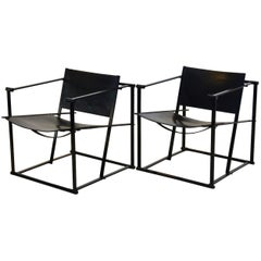 FM62 Cubic Leather Lounge Chairs by Radboud van Beekum for Pastoe, Dutch Design