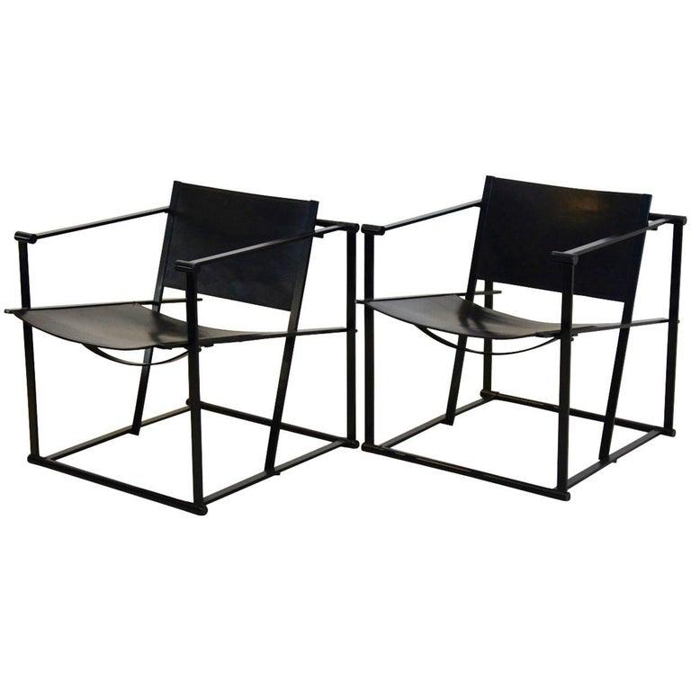 FM62 Cubic Leather Lounge Chairs by Radboud van Beekum for Pastoe, Dutch Design