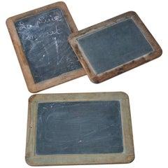 Three Mini French Vintage Chalk Boards