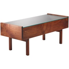 Ardden Riddle Coffee Table with Glass Top, USA, 1970s