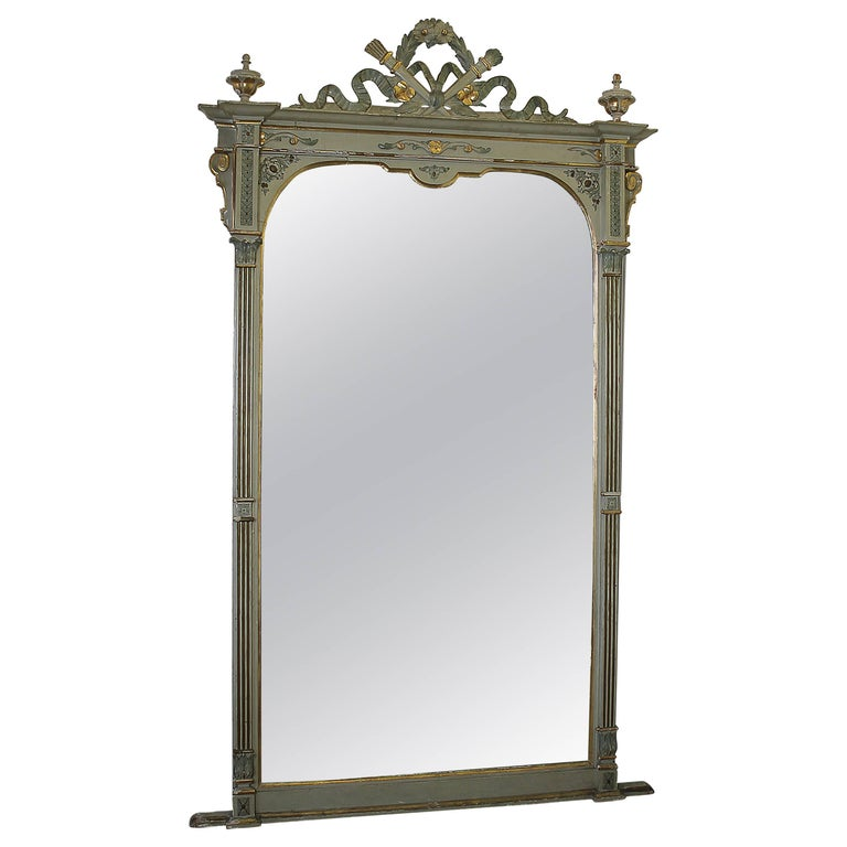 20th century french style floor mirror with ribbon carving for Floor mirrors for sale