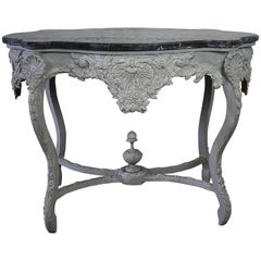 19th Century Painted and Carved French Center Table