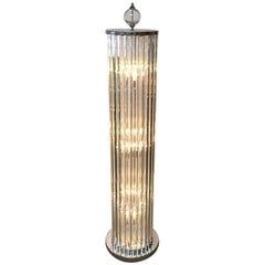 Italian Crystal Bars Floor Lamp