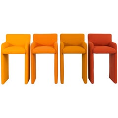 Set of DIA Gradient Stools Reupholstered in Marharam Felt