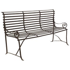 American Garden Seating Bench of Painted Iron
