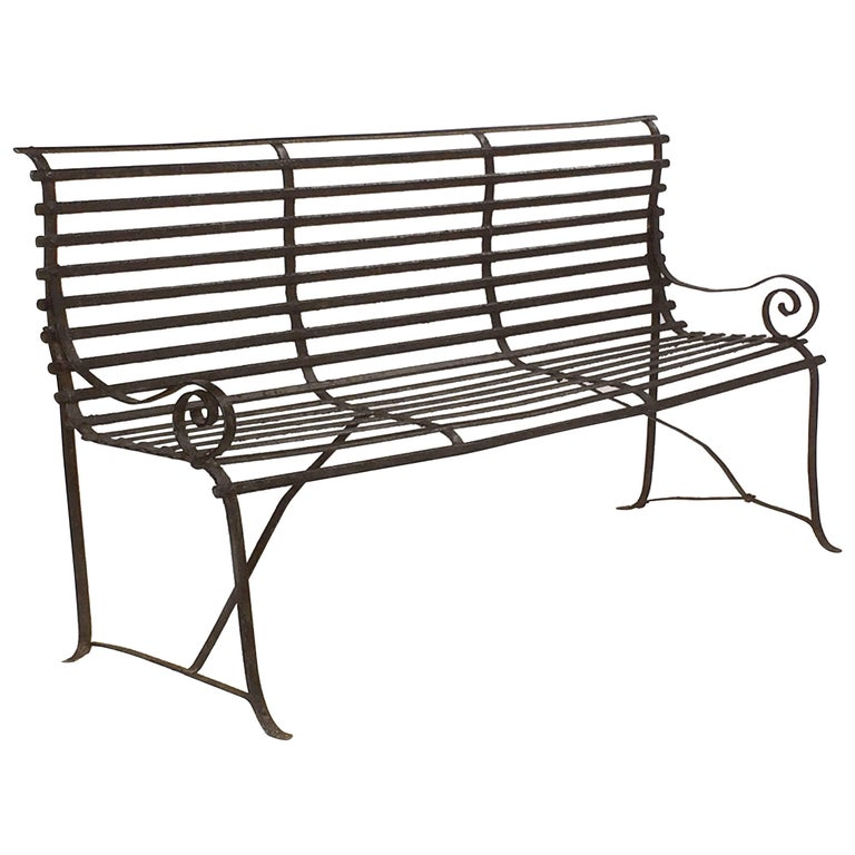 American Garden Seating Bench of Painted Iron 1