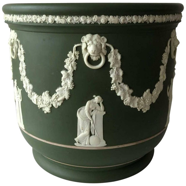 Wedgwood Jasperware jardiniere, 1925, offered by Harris Dean Gallery