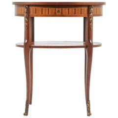 Oval Marquetry Table from Paris