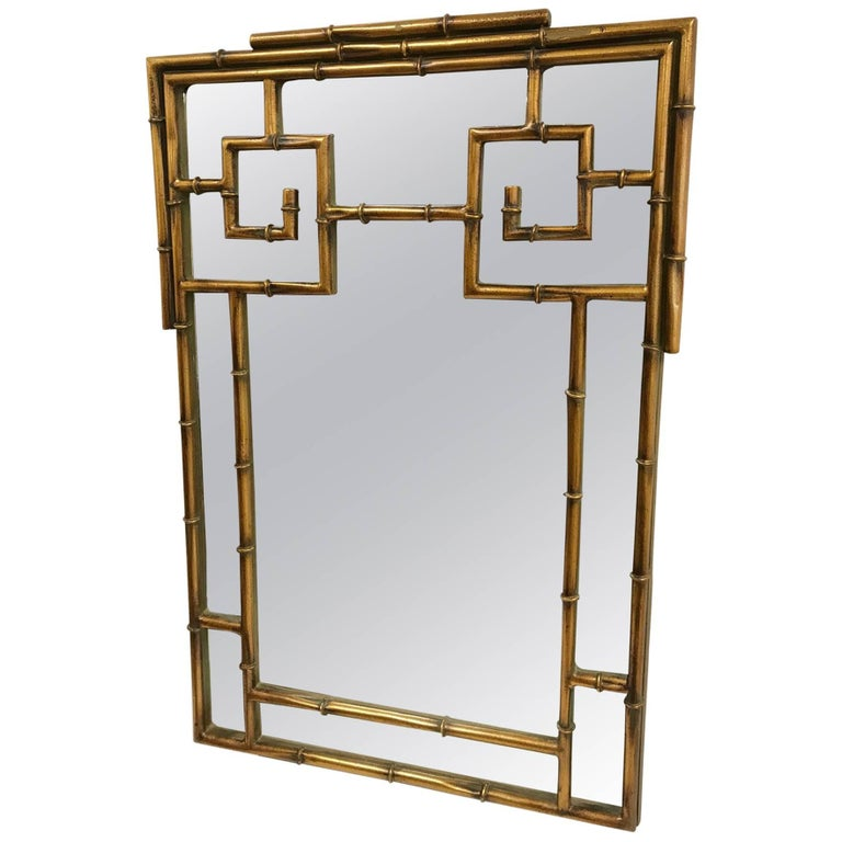 Chinese chippendale style faux bamboo mirror for sale at for Asian style mirror