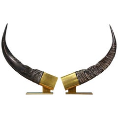 Midcentury Faux Decorative Horns by Chapman