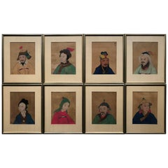 Set of Eight Chinese Ancestral Portraits