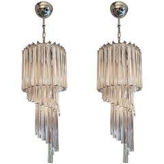 Pair of Murano Glass Chandelier