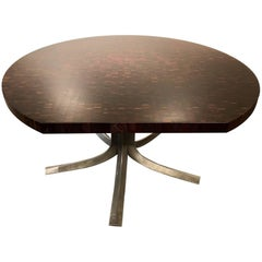 "Iconic ""Pan Coupe"" Meeting Table by Jules Wabbes"