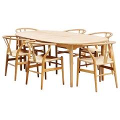 Brdrene Andersen Soaped Oak Dining Table, Denmark, 1970