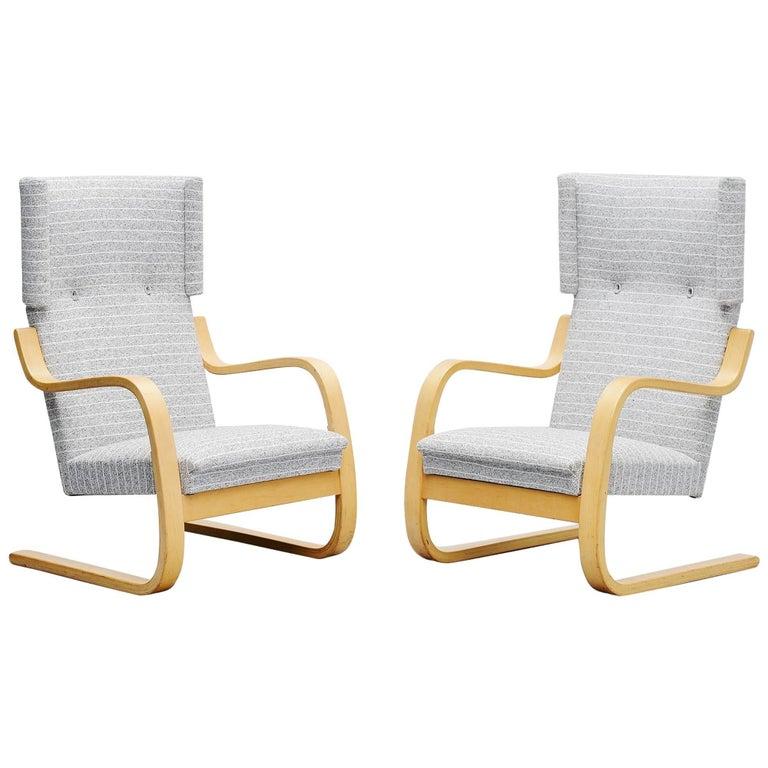 Alvar Aalto 401 Wingback Chairs Artek, Finland, 1970