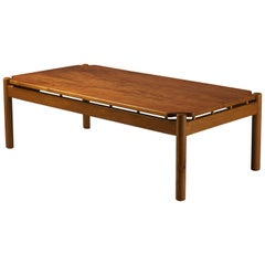 Ilmari Tapiovaara, Scandinavian Low Modern Coffee Table, Teak and Oakwood, 1959