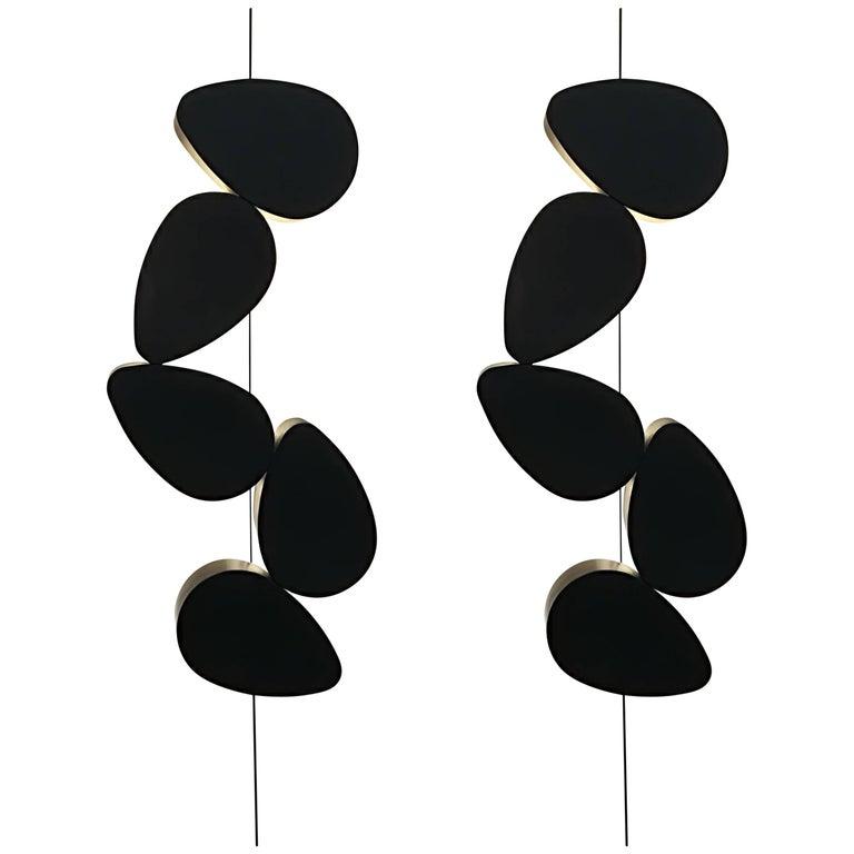 Pair of Sconces Five Elements by Stephane Ducatteau