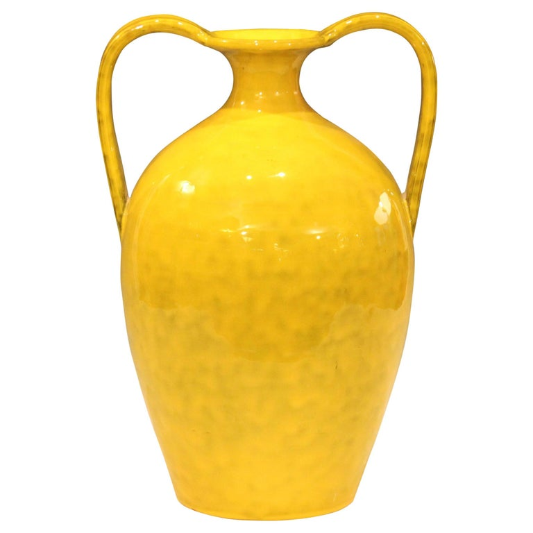 Vintage Italian Pottery Bright Yellow Italica Ars For Rosenthal