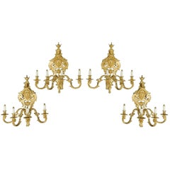 French Gilt Wall Lights