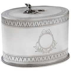 Very Rare and Unusual George III Tea Caddy Made in by Hester Bateman
