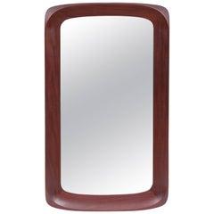 Mid-Century Modern Scandinavian Mirror in Teak