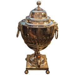 19th Century English Silver Plate Tea Urn