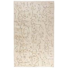 Modernist Jean Cocteau Style Rug