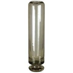Vintage Murano Smoked Glass Vase by Giuliana Gramigna for Salviati-Quattrifoglio