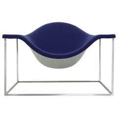 Purple Cappellini Armchair Design Jean-Marie Massaud Model Outline