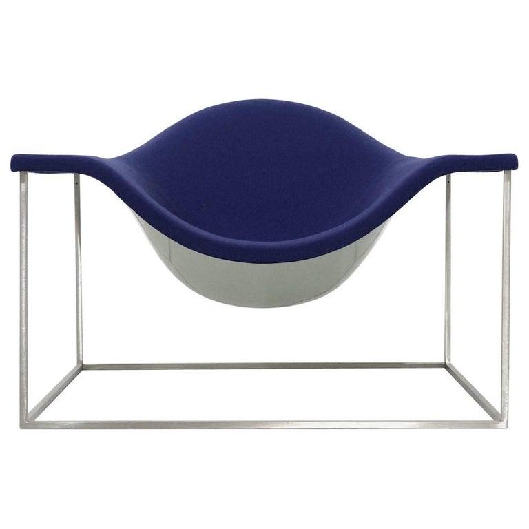 Purple Cappellini Armchair Design Jean-Marie Massaud Model Outline