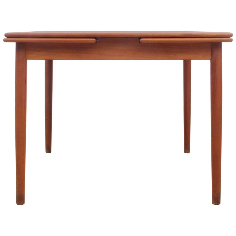 MidCentury Modern Scandinavian Square Dining Table For Sale At Stdibs - Mid century square dining table